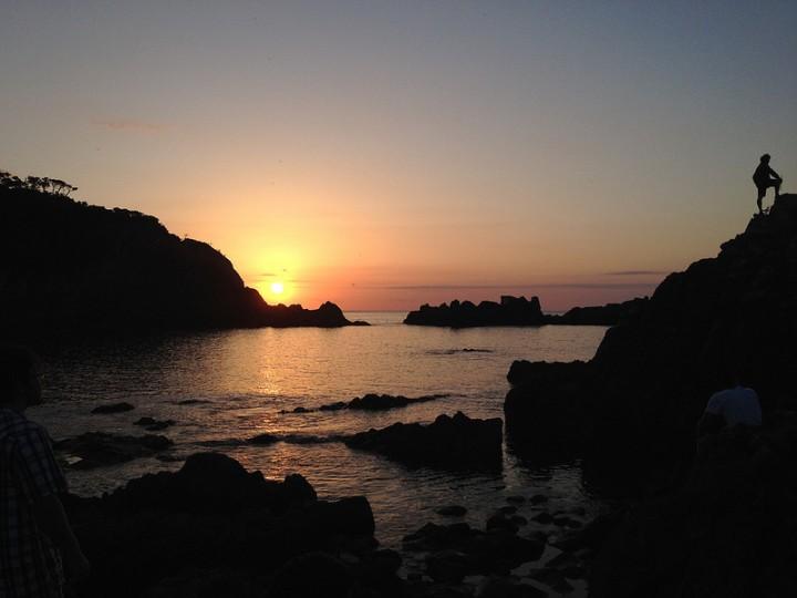 "Honorable Mention ""Sunset at Shikinejima"" by Ta Jung Rhonda Ma"